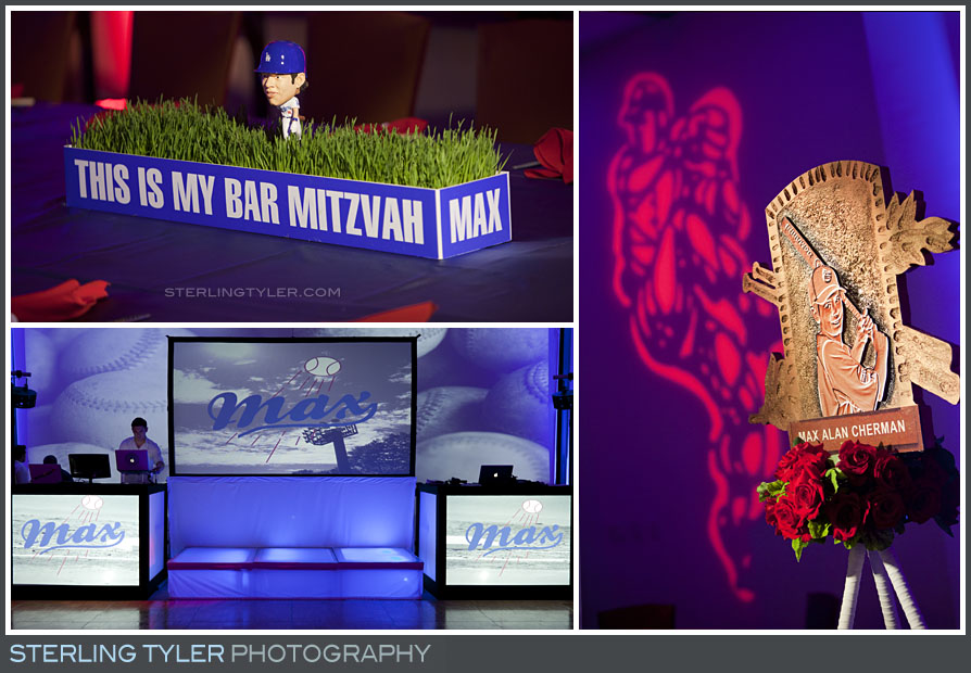 Dodgers Baseball Theme Bar Mitzvah Photography
