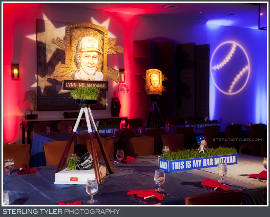Baseball Theme Bar Mitzvah Photography
