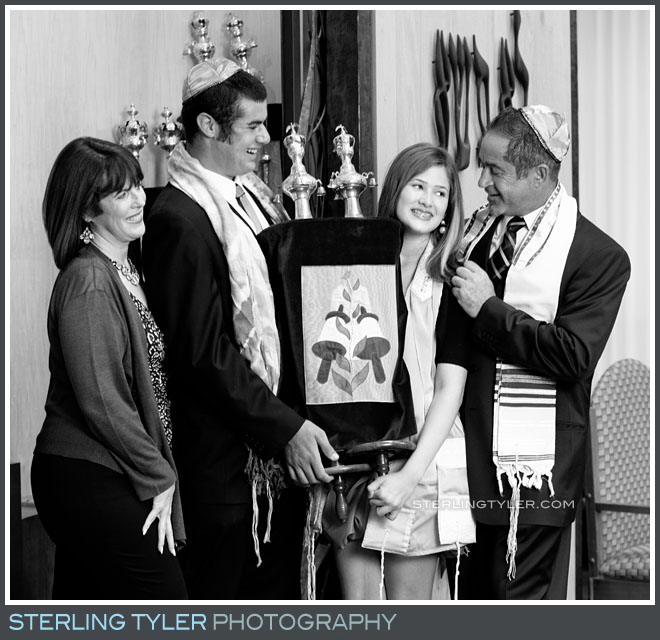 The Temple Beth David Bat Mitzvah Family Portrait Photography