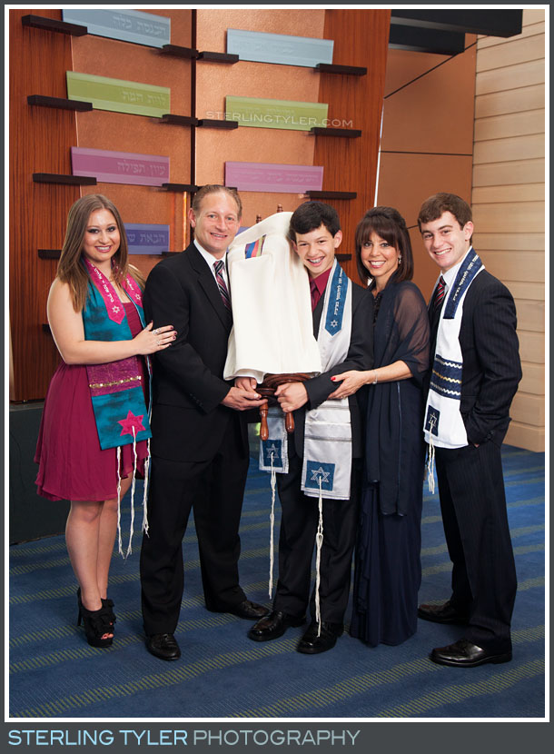 bar mitzvah family portrait torah temple judea