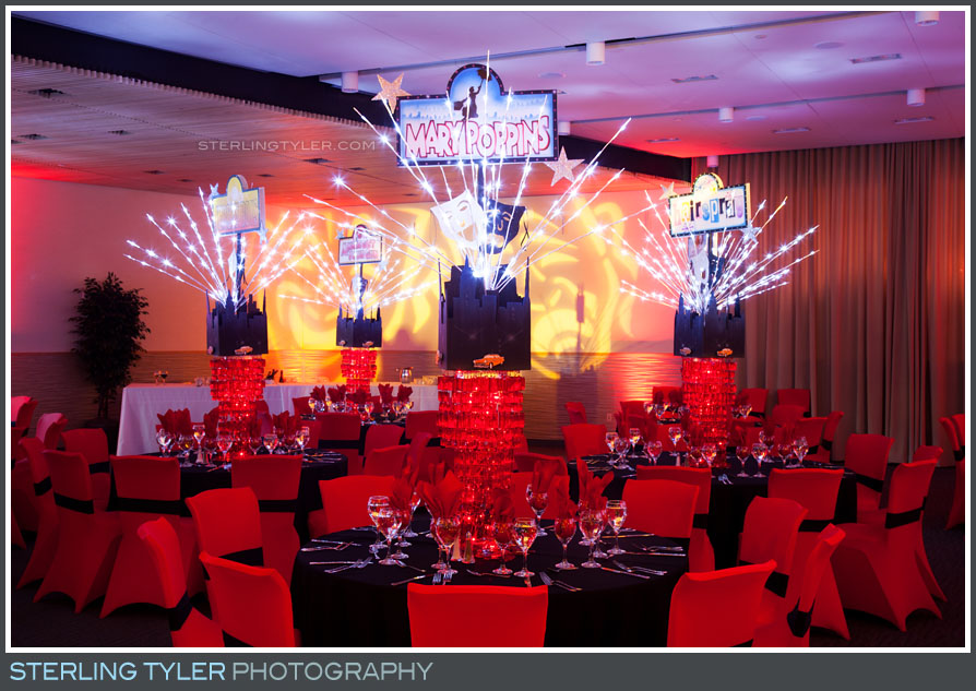 bar mitzvah reception decor detail temple judea