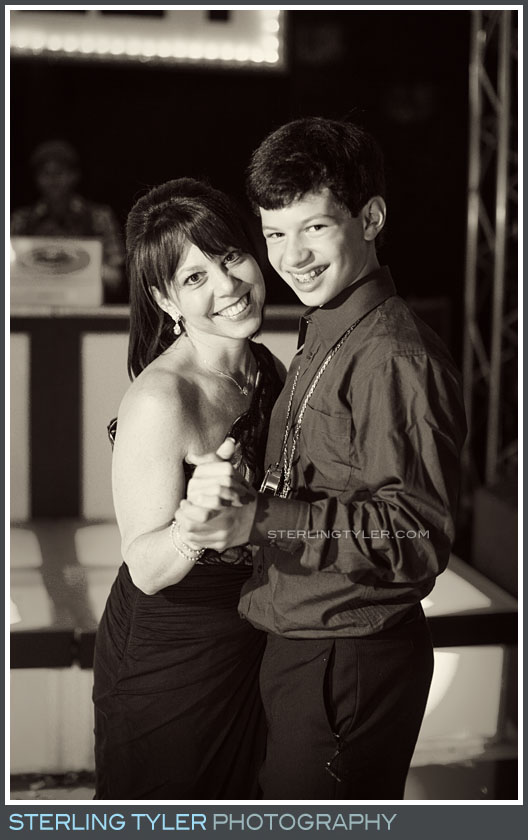 bar mitzvah mother son dance portrait reception temple judea