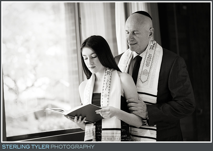 stephen s wise temple bat mitzvah portrait father daughter torah