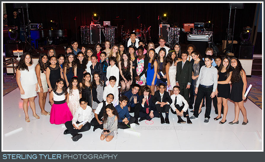 bat mitzvah reception group portrait regional beverly wilshire hotel