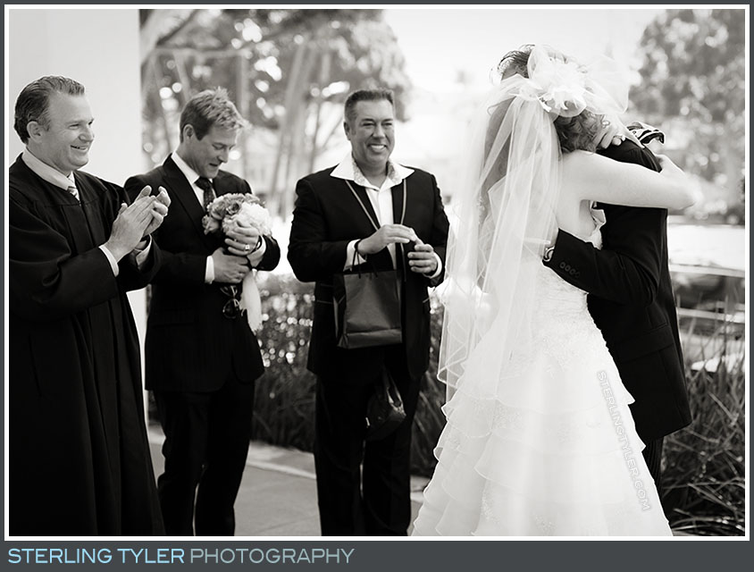 The Beverly Hills Valentines Day Wedding Ceremony Photos