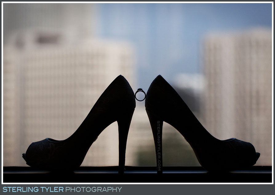 silhouette wedding shoes rings los angeles