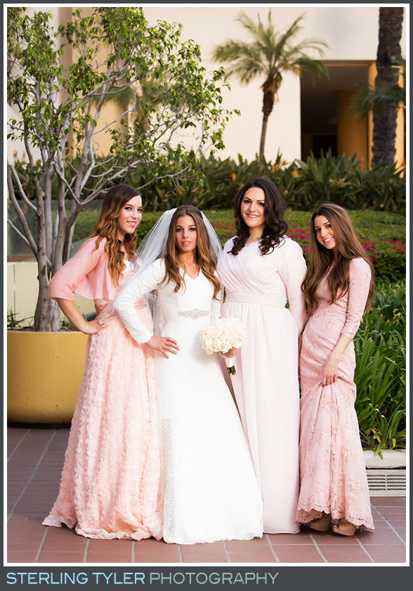 bridesmaid portrait la hotel