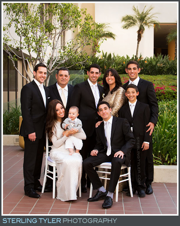 groom family portrait la hotel