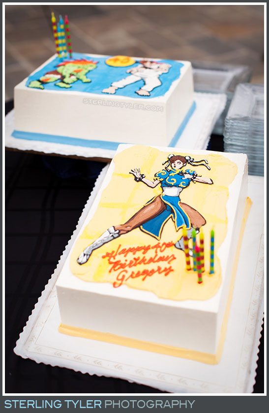 video game character birthday cake