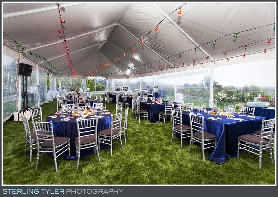 birthday tent decor tables