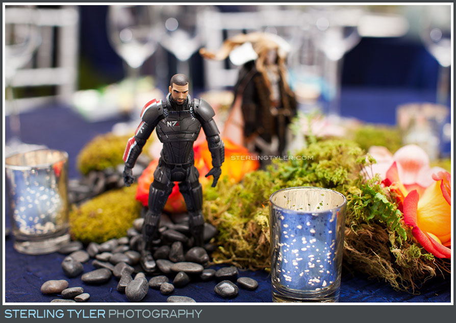 video game character themed centerpiece decor detail photo