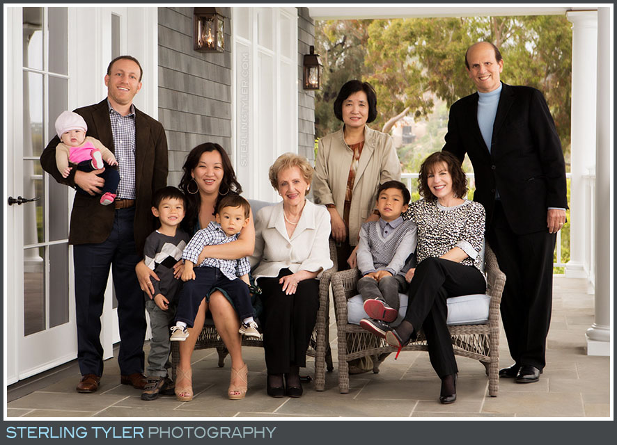 family birthday portrait pacific palisades