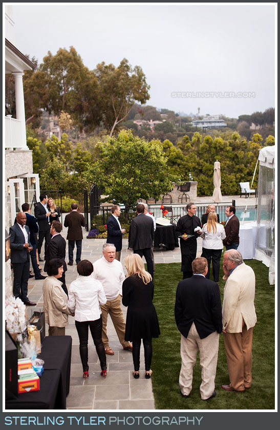 birthday party friends mingling pacific palisades